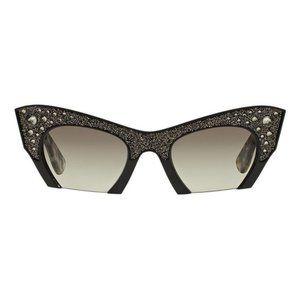 NWOT Miu Miu Rasoir Rhinestone Cat Eye Sunglasses